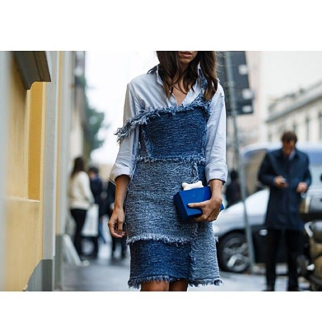 #MMissoni | PATCHWORK DENIM DRESS in #LimitedEdition | Spring 2105 Collection Must Have | #mfw by My Free Choice Blog | Erika Boldrin