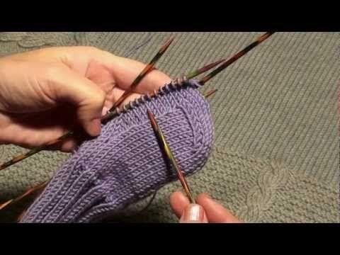 Вязание для начинающих. Носки (окончание)