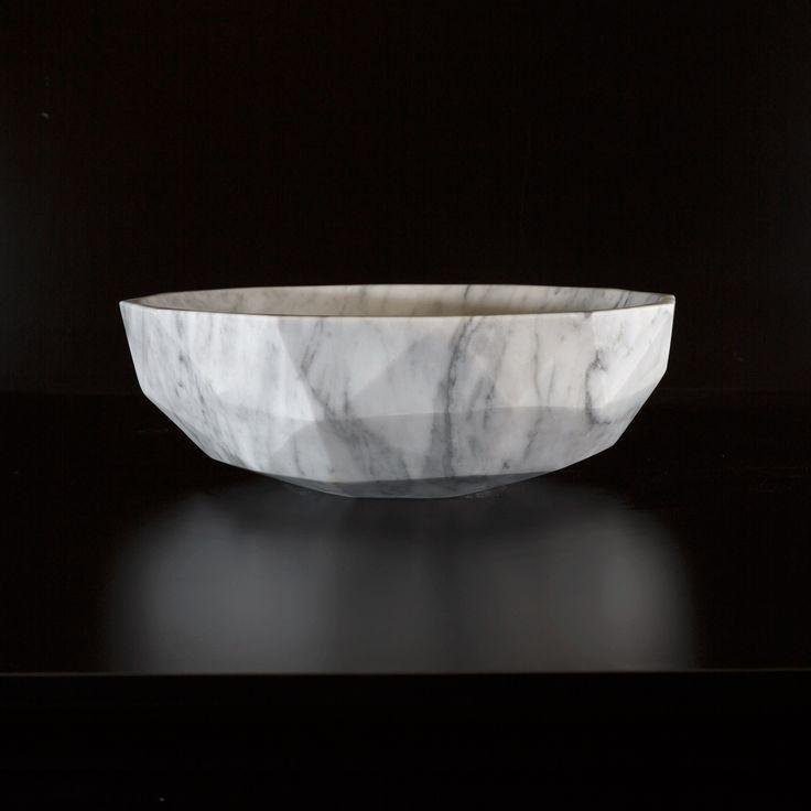 Cararra Marble basin diamond shape