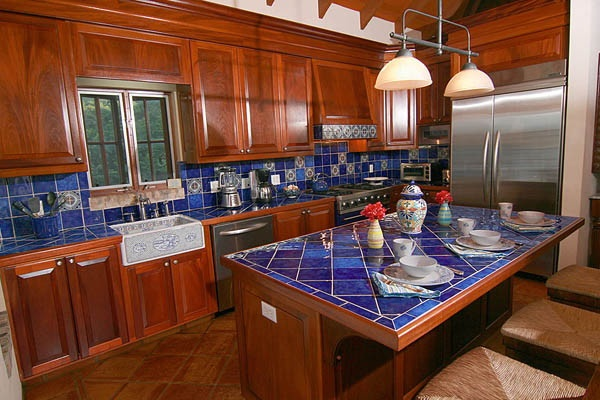 blue kitchen tile great combination with the blue tile countertops and is 1741