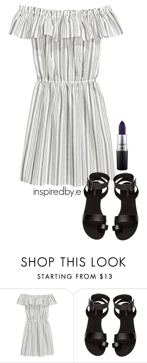 """Simple plan"" by emmakiis on Polyvore featuring H&M and MAC Cosmetics"