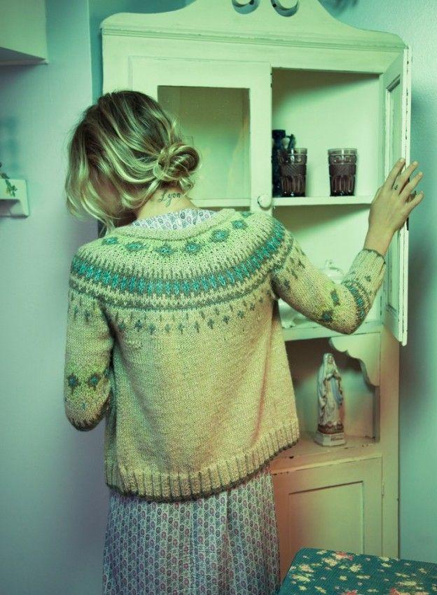 Fair Isle style | Pattern knit cardigan | Vintage