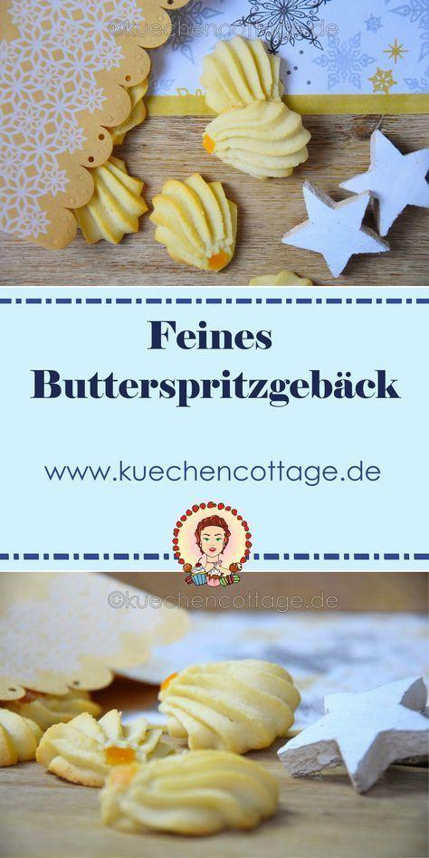 Feines Butterspritzgebäck Rezept auf www.kuechencottage.de #backen #weihnachten #plätzchen #spritzgebäck #butterspritzgebäck #weihnachtsbäckerei #foodie #weihnachtskekse #kekse