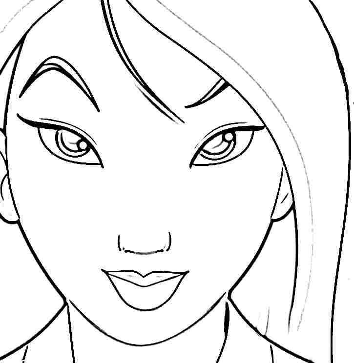 Disney Princess Mulan Coloring Sheets Printable Free For Disney Princess Coloring Pages Mulan Printable