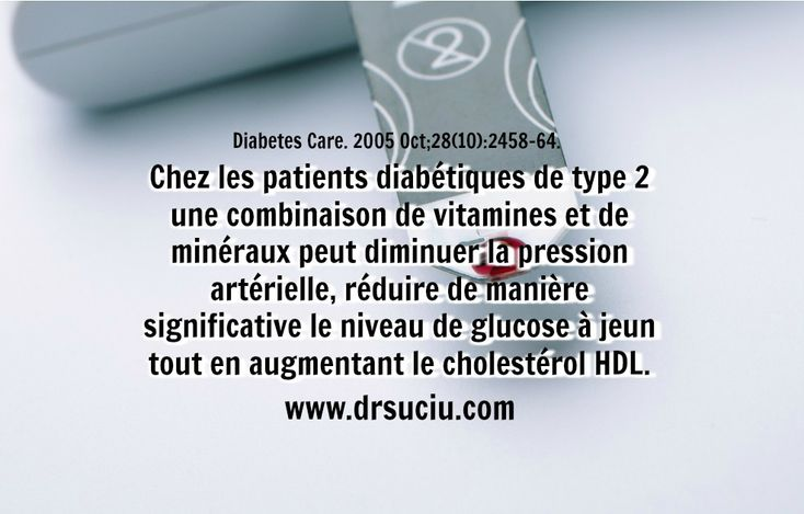 Photo Les bienfaits des vitamines et des minéraux en cas de diabète de type 2 - drsuciu