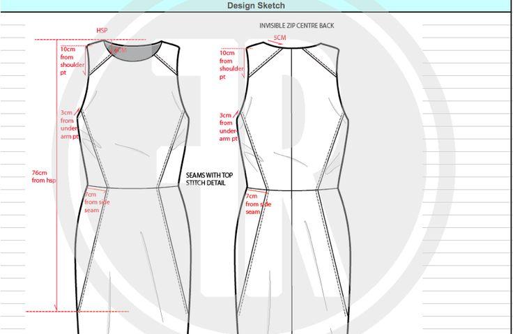 Fashion design pack for panel dress