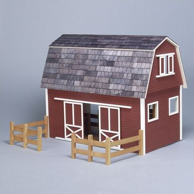Real Good Toys Barn, Stores and Mouse House Ruff 'n Rustic All American Barn Dollhouse & Reviews | Wayfair
