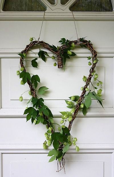 I didn't have the energy I usually put into my door wreath, so I did something like this with clippings from my yard. It looked really good on my red door!: