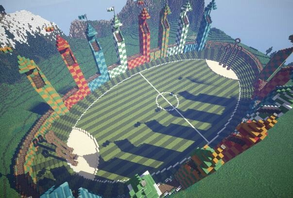 Minecraft Quidditch field   GIMME   Harry Potter   Minecraft   awesome   build