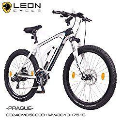 E-Bike - Reviewscout NCM Prague 26 Zoll Elektrofahrrad Mountainbike E-MTB E-Bike,Pedelec ALU 36V 250W Li-NCM Akku mit 13Ah,weiß,schwarz