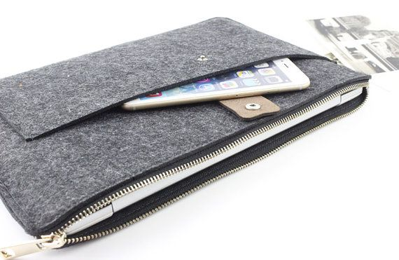 Zipper Felt Macbook sleeve, Macbook Air case, Macbook Pro sleeve, Macbook 11 13…