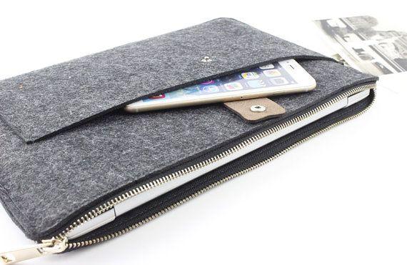 Zipper Felt Macbook sleeve, Macbook Air case, Macbook Pro sleeve, Macbook 11 13…