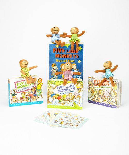 This Set Features A Boisterous Box Of Monkeys With Three