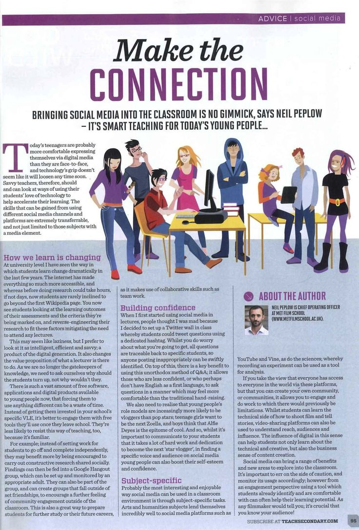 Our School's Operations Director, Neil Peplow, discusses #socialmedia in the classroom, as featured in #TeachSecondary