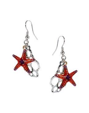 Bill Skinner Aquatic Starfish Drop Earrings
