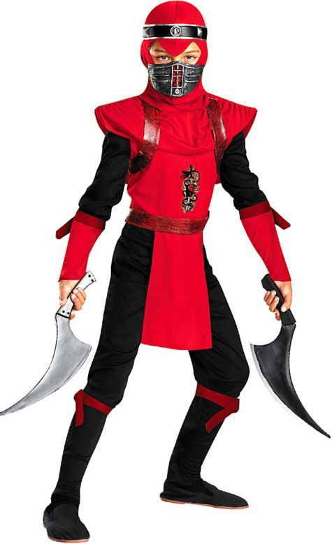 Boys Red Viper Ninja Costume - Party City