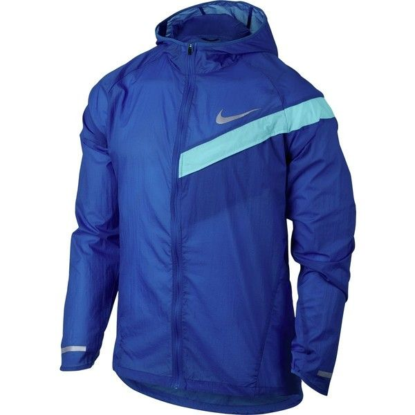 Nike Impossibly Light HD Running Jacket ($90) ❤ liked on Polyvore featuring men's fashion, men's clothing, men's activewear, men's activewear jackets and nike