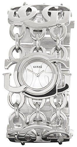 Guess Logo Womens Silver Dial SilveTone Stainless Steel Bracelet Watch W12608L1 ...