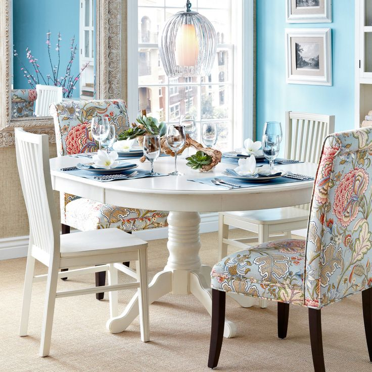 Ronan Pedestal Extension Table - Pier One - White - Eat-in-Kitchen