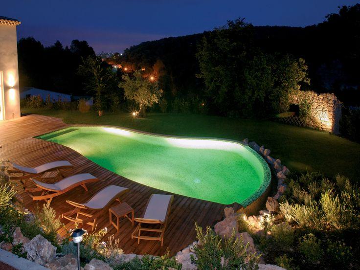 28 best images about piscine de nuit on pinterest nature banquettes and design. Black Bedroom Furniture Sets. Home Design Ideas