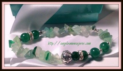 Green aventurine bracelet , emerald bracelet .  Pulsera esmeradas,pulsera cuarzo verde,pulsera aventurina,joyeria cristales de cuarzo,joyas cuarzos.joyeria energetica.  http://www.angelesmensajeros.com/joyeria-en-cristales-de-cuarzo