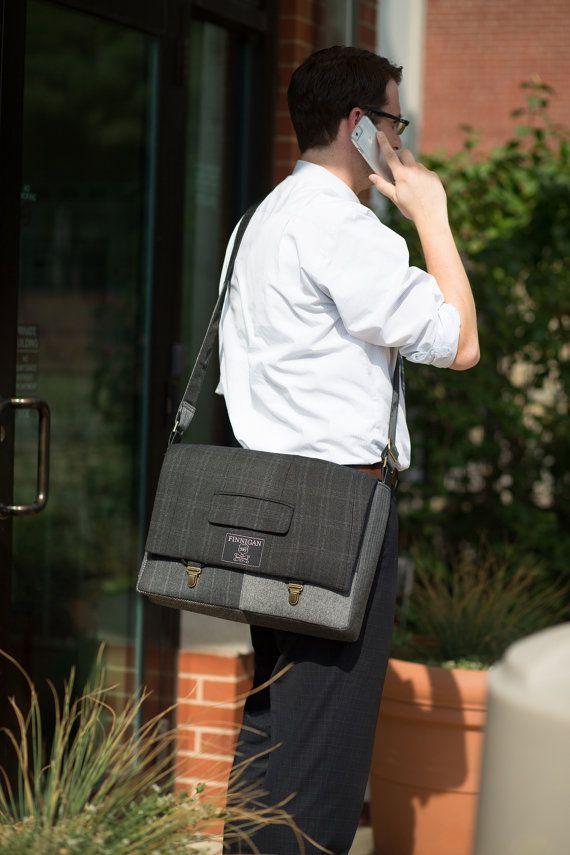 "Messenger Bag, Mens 15"" Mens laptop Messenger Bag , 15"" Macbook Pro Laptop Sleeve, tote bag, Suit coat Upcycled bag  Absolutely beautiful."