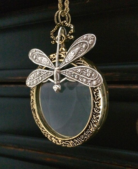 Victorian Magnifying Glass Necklace  Antique by KarenTylerDesigns