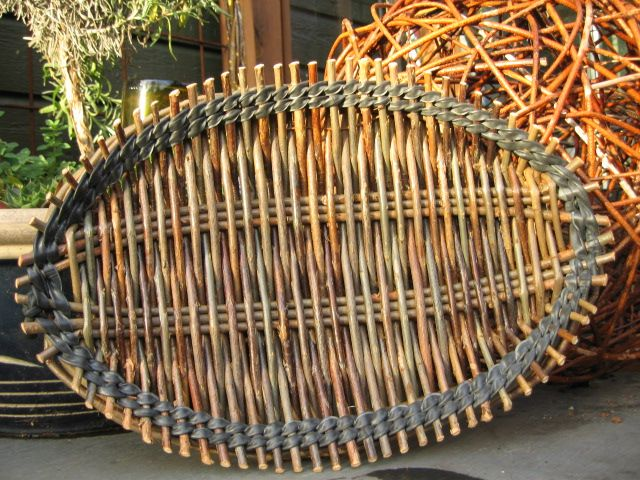 Basket Weaving Edging : Tension tray french style wicker weaving variations on