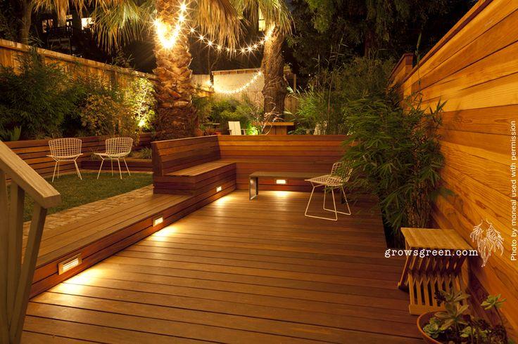 Sunset Entertainment garden at night