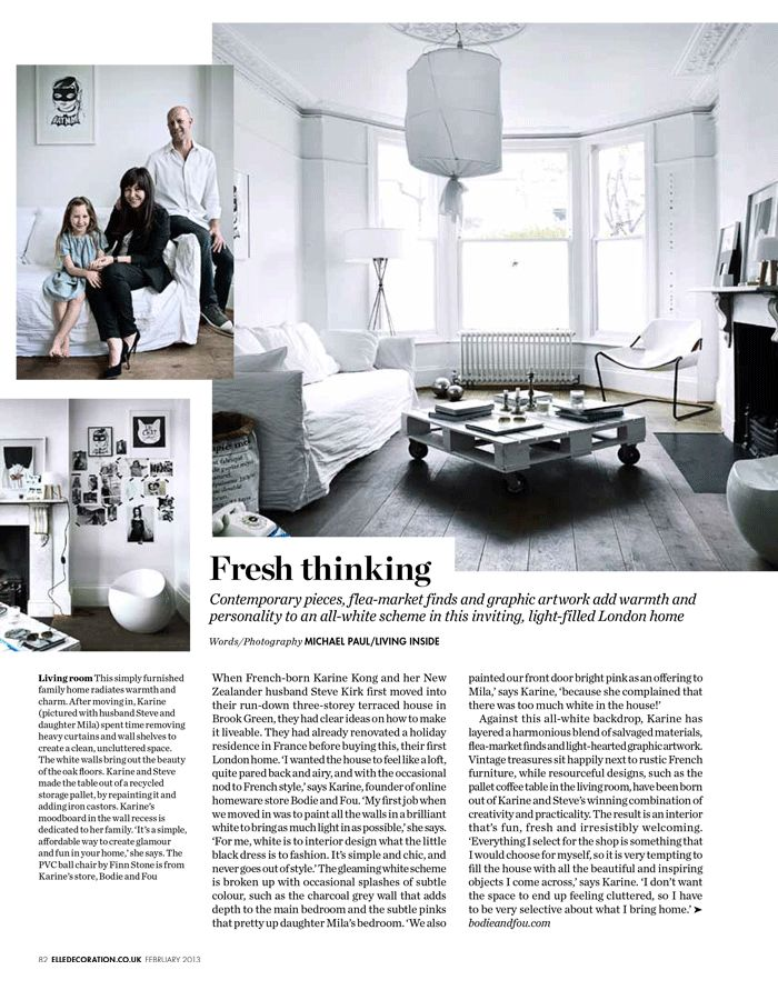 My Home In ELLE DECORATION UK Feb 2013 BODIE And FOU Le Blog Inspiring