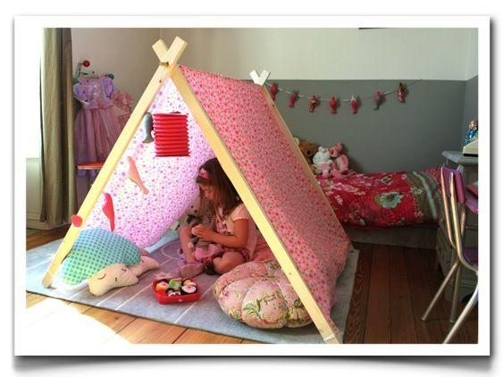 Jolie tente à fleurs suite ... - cadeau bébé enfant décoration chambre enfant pouce et lina