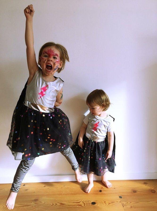 Superhelden Kostüm für Schwestern