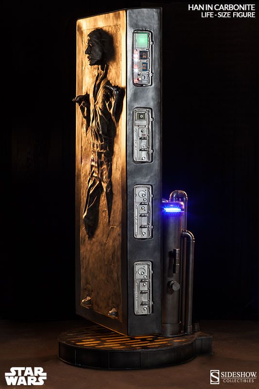 Han Solo in Carbonite Life-Size Figure by Sideshow Collectibles