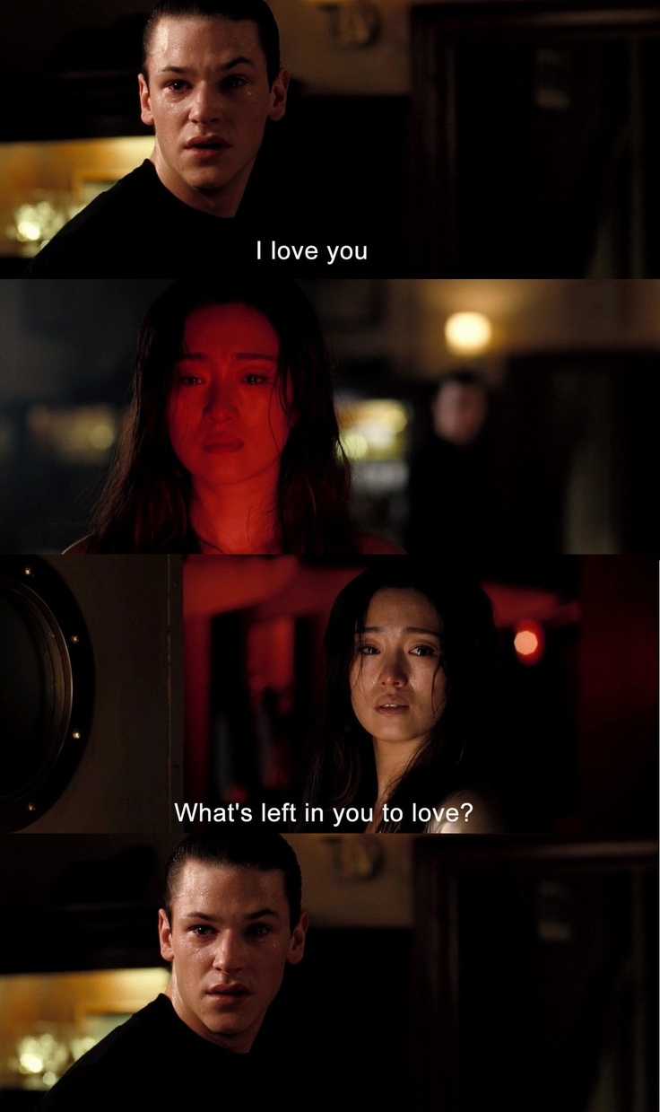 Despite the obvious creepiness of this relationship this scene made me sad.