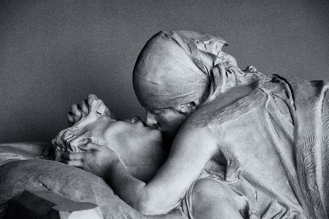 The Last Kiss...Cemetery in Milan.