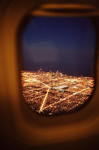 flying over Chicago