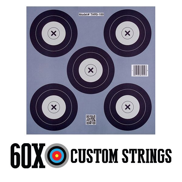 .30-06 Outdoors 5 Spot Paper Target Full Color 5 Spot Target 17″ x 17″ (40 cm) 100 ct Padded