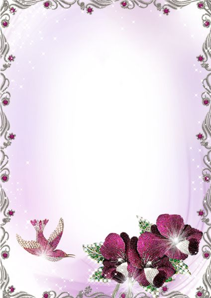 purple flower borders and frames large silver and purple transparent frame with flowers