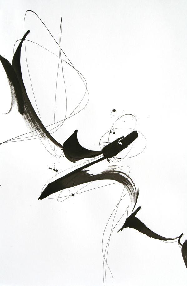 Calligraphy script.