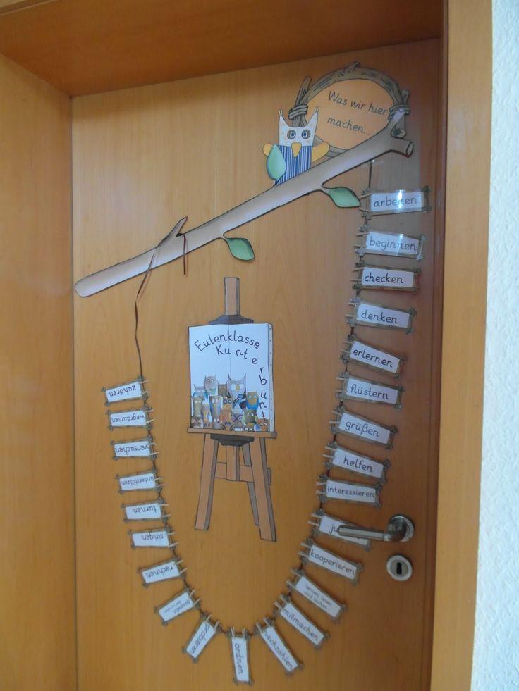Kruschkiste: Gestaltung Klassenraumtür