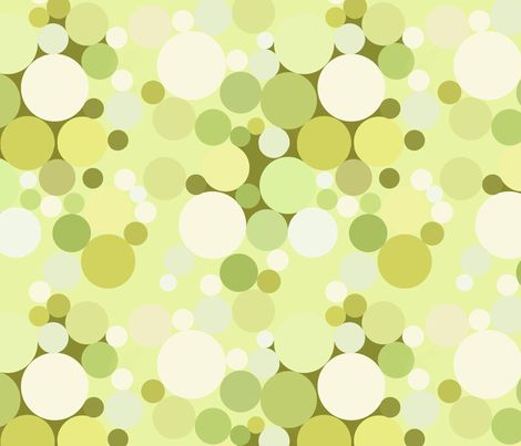 Green Bubbles fabric by bonspiel on Spoonflower - custom fabric