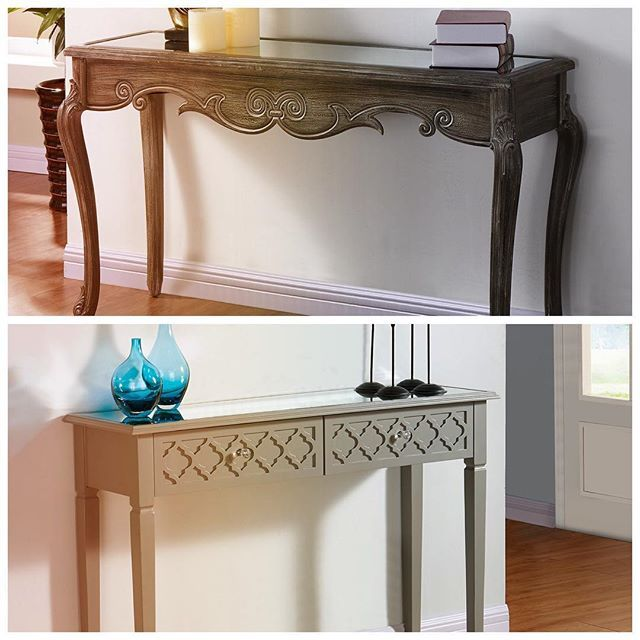 Traditional vs. Contemporary: Which style do you prefer?  http://inspireathome.com/accent-furniture/console-tables-cabinets/kailey-console-table-in-weathered-grey.html