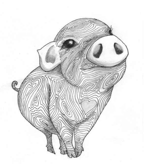 Little Pig I love my little pig drawing! So excited for my talented friend, for growing her business with her heart and hands.