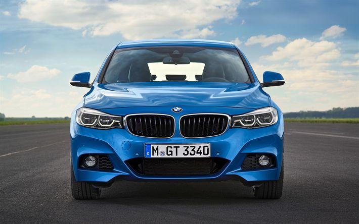 Descargar fondos de pantalla BMW Serie 3 Gran Turismo, 2018, F34, vista de frente, nuevos coches, Gran Turismo, BMW