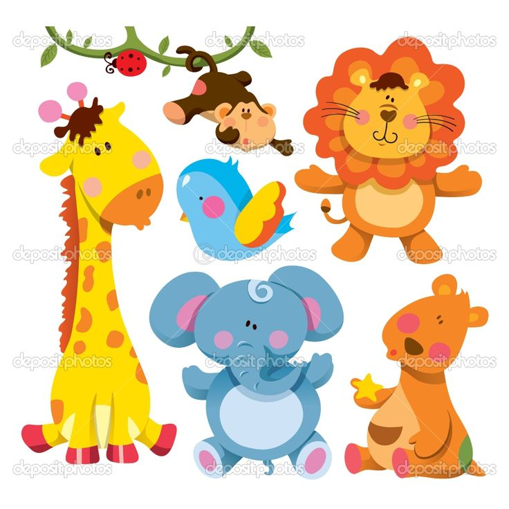cartoon baby animals | Cute Animal Collection | Stock ...