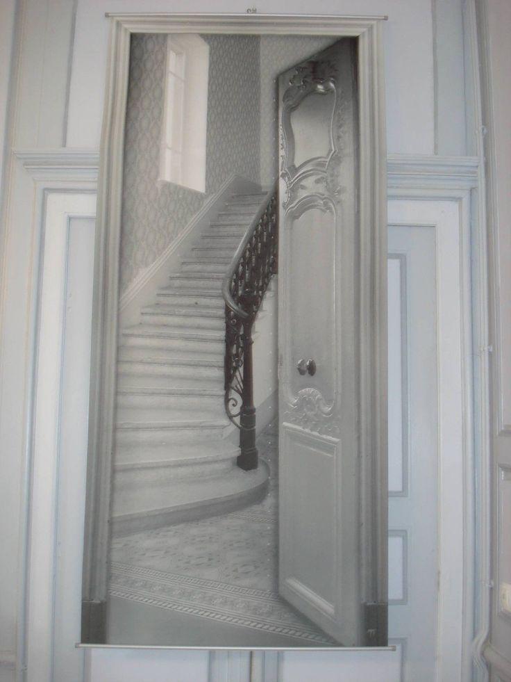 D tails sur toile d corative trompe l 39 oeil l 39 escalier d co for Decoration trompe l oeil