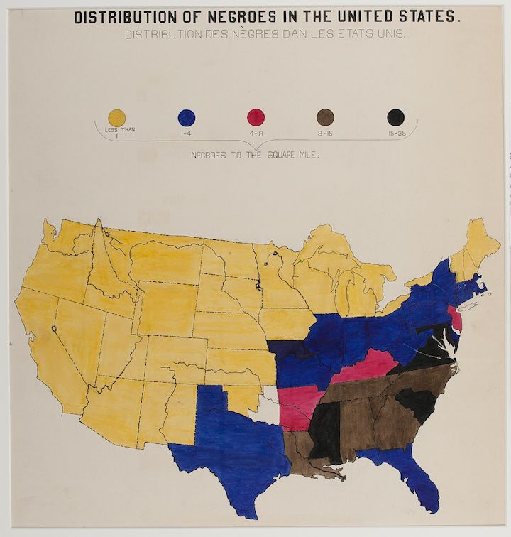 These Remarkable Hand Drawn Infographics Were Created By W Du Bois For A 1900 Exhibition On African American Life And Demographics