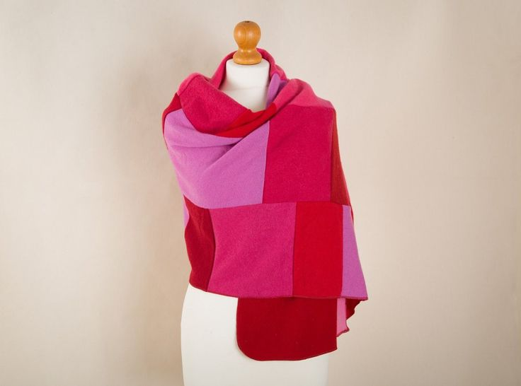 Cashmere Wrap by Turtle Doves - Hot red & pink for maximum cheer; every wrap is unique so each is a limited edition piece #cashmere #turtledoves #shrewsbury