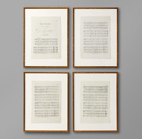 "Framed sheet music -my bedroom project with ""our"" songs..."