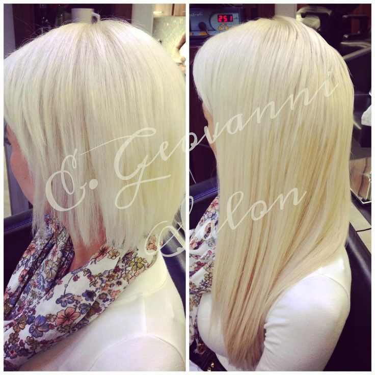 15 best hair extensions by e geovanni salon images on pinterest platinum blonde before and after lengthening service using great lengths hair extensions and olaplex pmusecretfo Image collections
